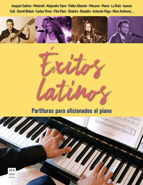 album - exitos latinos (36 temas) arr.faciles piano